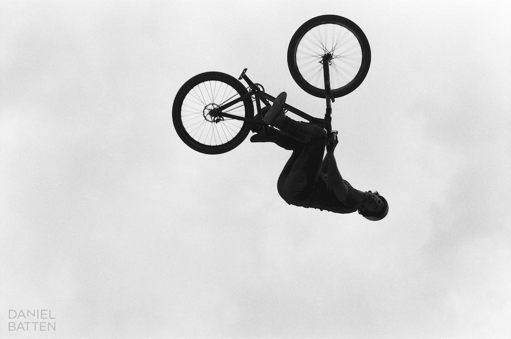 Upside down. 35mm black amp white film