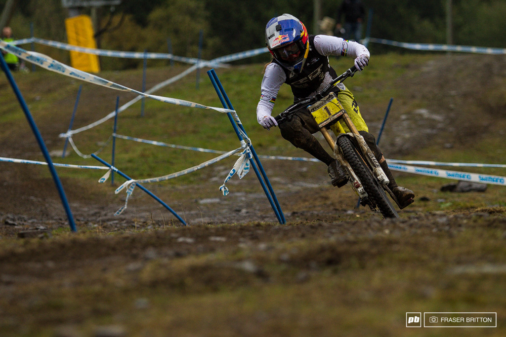 Rachel Atherton takes home yet another win this time decked out in the rainbows.