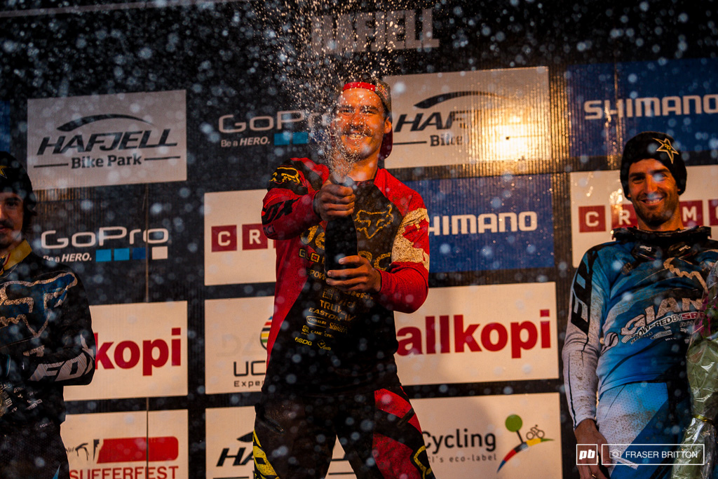 To the victor goes the spoils. Only 17 points separate Gee Atherton and Steve Smith from a World Cup overall title this year. It all comes down to finals.