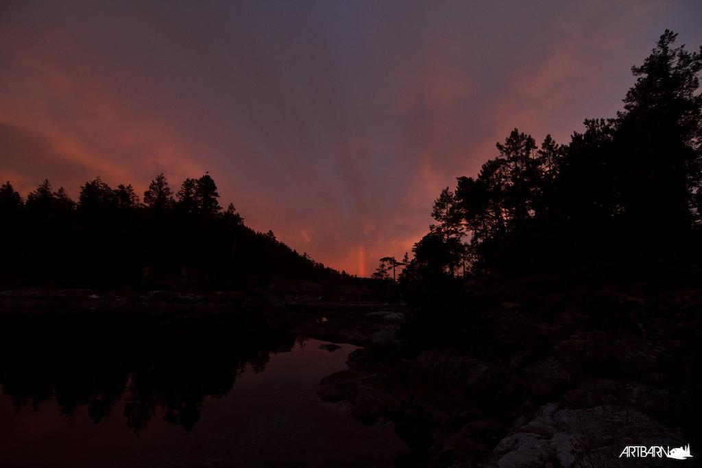 Sunset on night one.