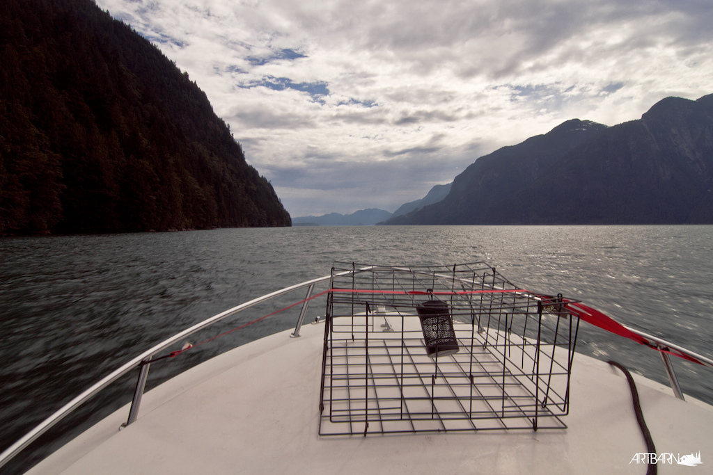 Exiting Toba Inlet after gale winds began pushing down the fjord.