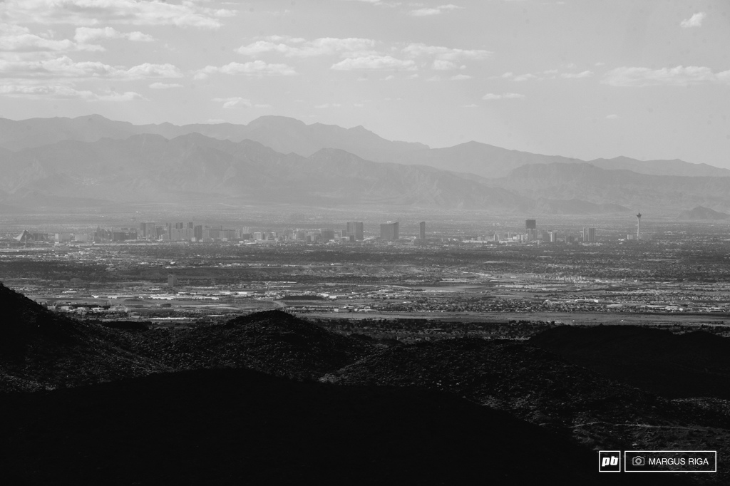 The Las Vegas Strip as seen from the top of Bootled Canyon.