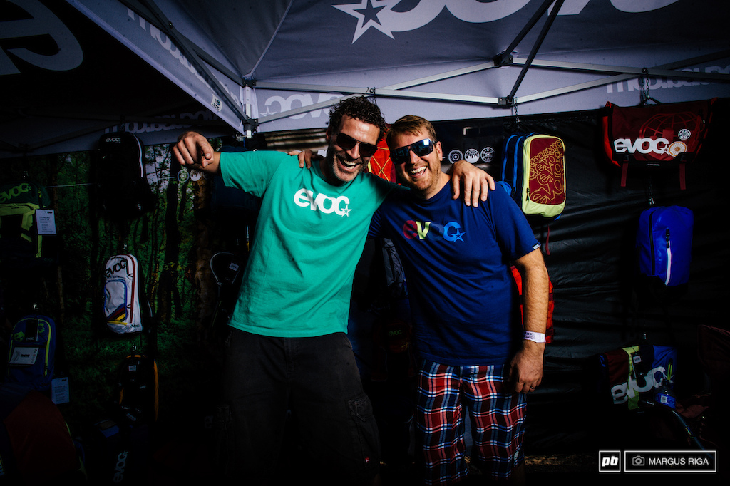 Bernd Stucke and Landon Sterling of Evoc.