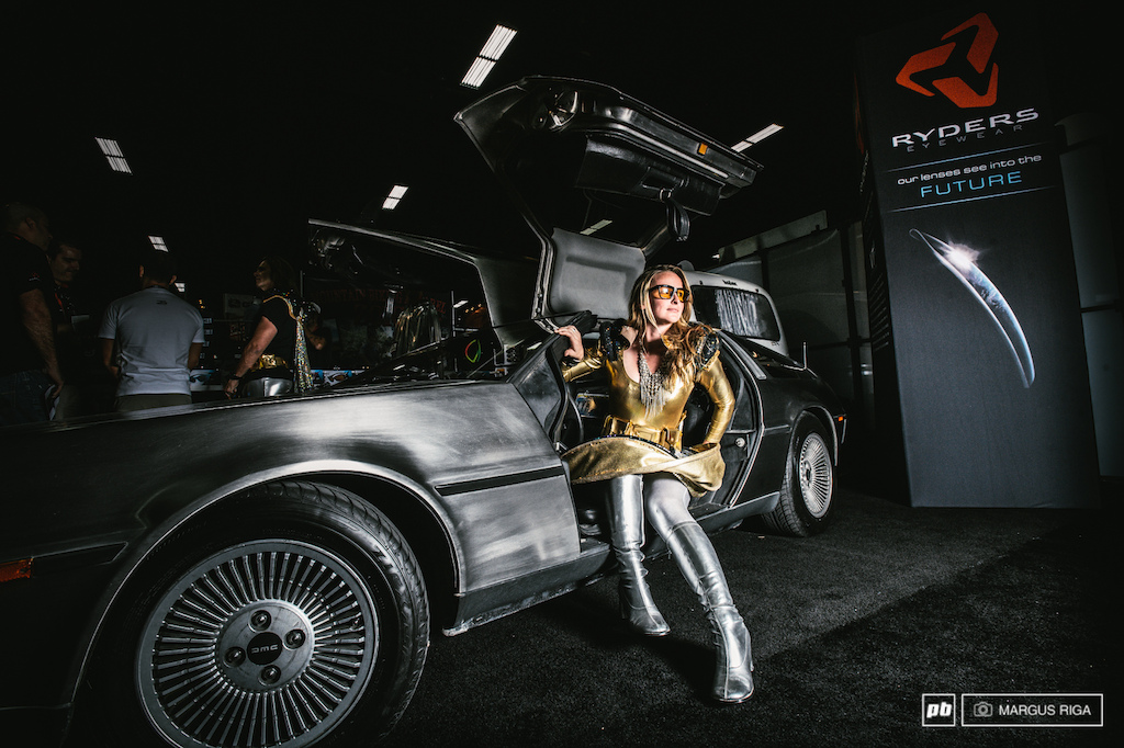 No 650B no Fat Bike just a babe in a Delorean. Thanks Ryders eyerwear.