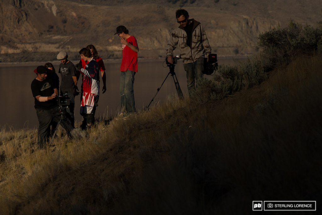 inspecting the nugs on set of Brandon Semenuk s Rad Company in Kamloops BC