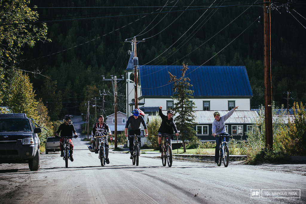It was a super cool experience to ride with the Dawson City boys. They showed us their first true purpose built mountain bike trail. It is their pride and joy and has been in construction all summer. Kenny dubbed it his favorite run of the trip the trail was super fresh fast and most importantly fun. Thanks Marshall Jonas Trae Taylor Charles Dickson-Blanchard and Francis Bouffard for showing us the goods. Can t wait to come back and ride your hard work again