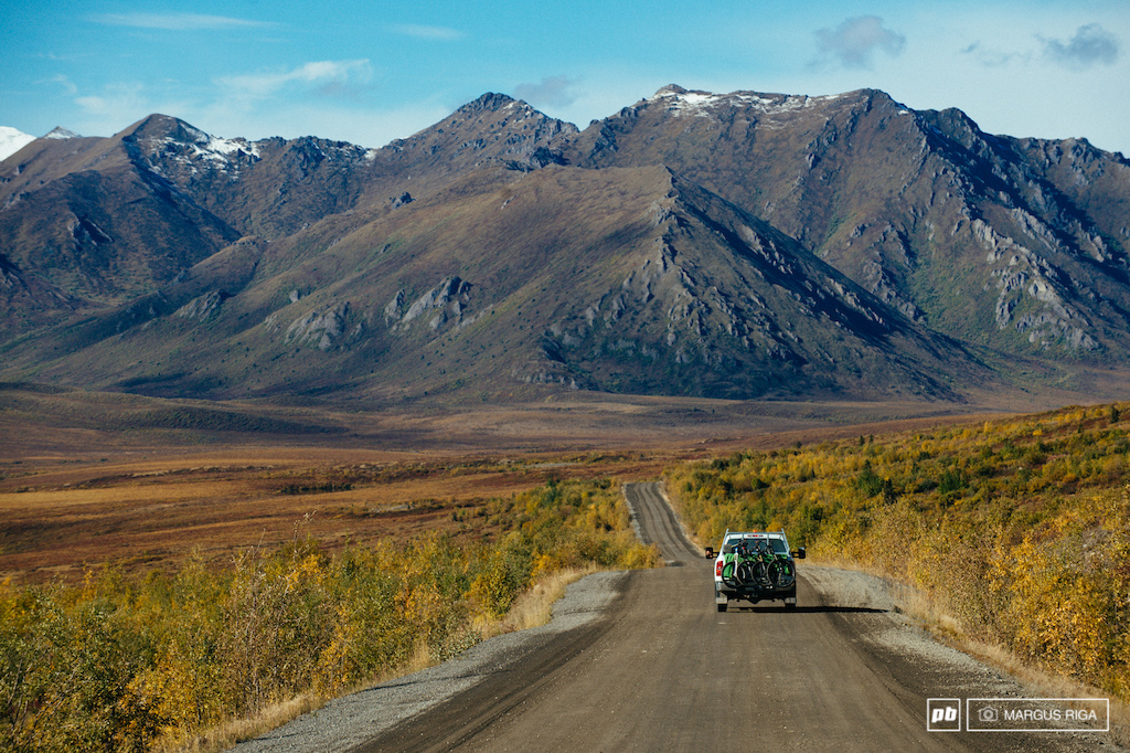 Sitting atop the permafrost and weathering temperatures that can vary as much as 142 degrees the Dempster Highway s road surface is entirely gravel 20 feet thick in places. There was no other way to build the road except load after load after load of gravel.