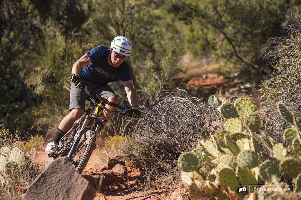 Jordan Carr testing the Devinci Dixon in Sedona AZ