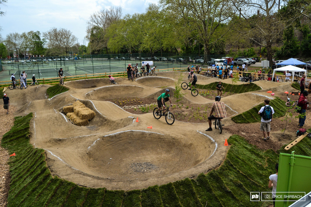 The grand opening celebration was a huge hit as thousands were on hand to show their support and hundred were ready to ride. A thunderstorm halted the festivities a bit early but the point was made The Philadelphia Pumptrack is going to change a lot of things for the better.