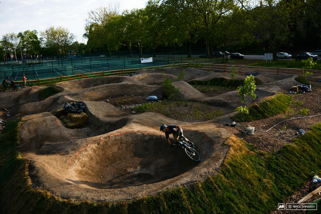 Kenn railing the infinity berm at dusk