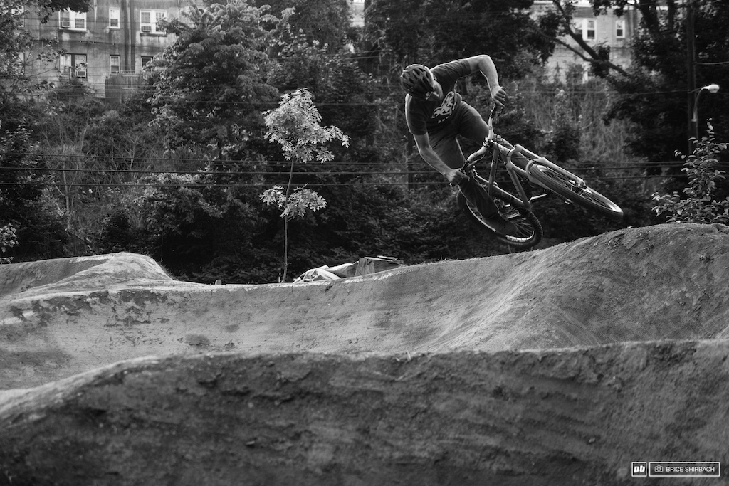 Harlan Price styling out the berm laden track.
