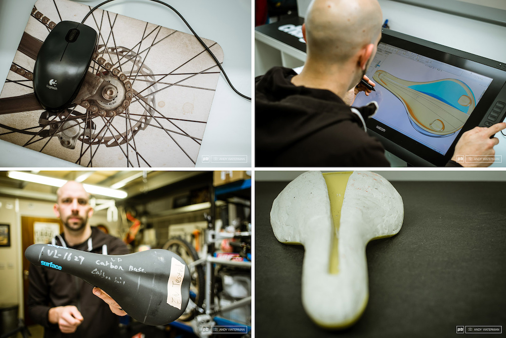 the saddle prototyping process for Fabric