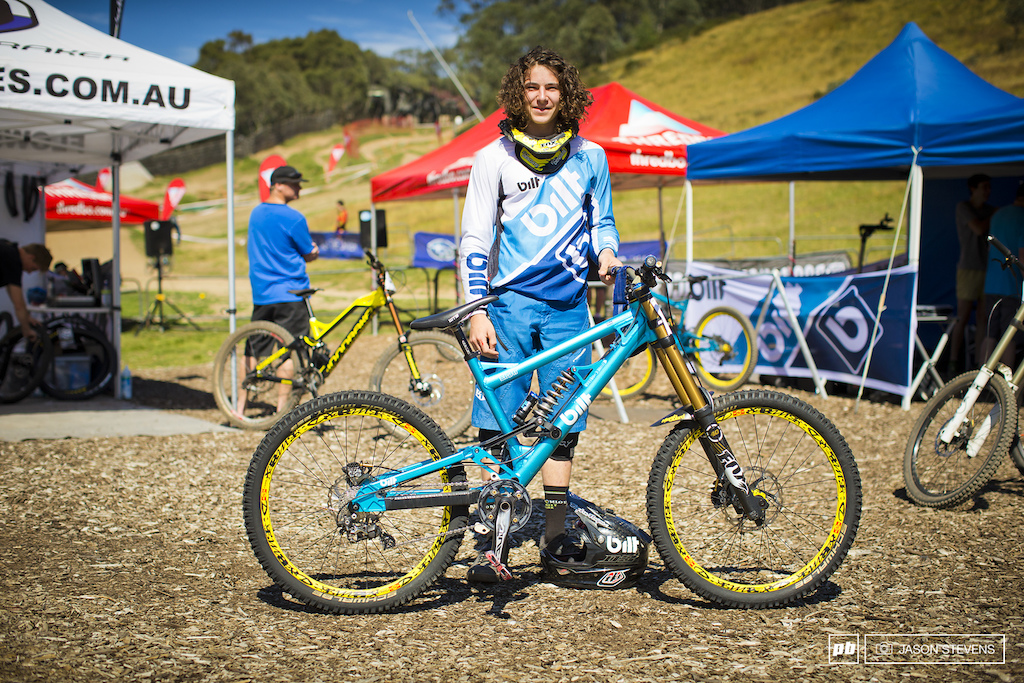 Brendan moon was one of the few riding a proper dh bike at round 1