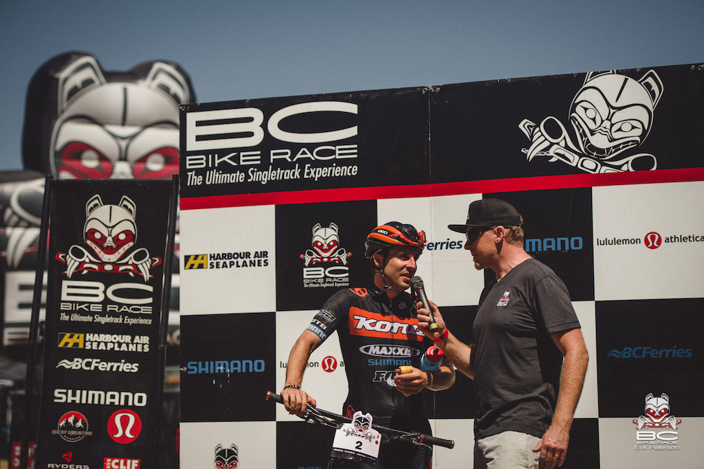 Spensor Paxson Kona Bikes had a career highlight day by taking back 7 minutes of the 8 he lost on Day 2 in Powell River.