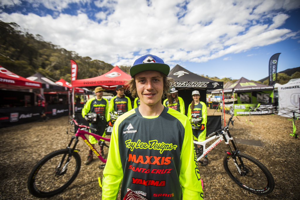 Young gun Patrick Butler showing what the future of AUS MTB holds. Apprently its going to be real fast. c Tim Bardsley-Smith