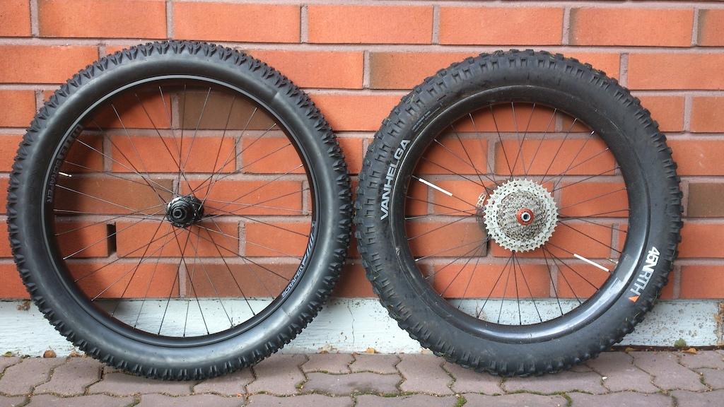 Maastopyörän renkaan leveys
