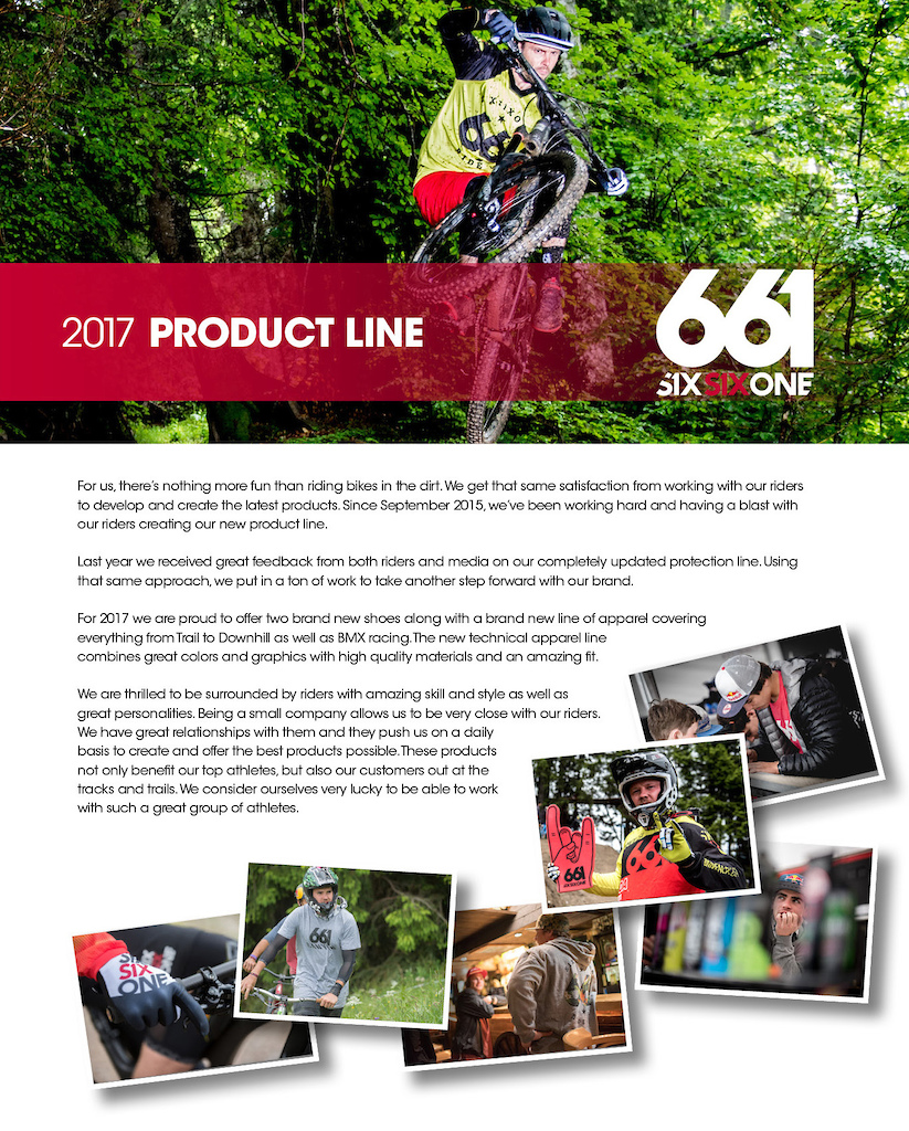 SixSixOne 2017 Product Lineup