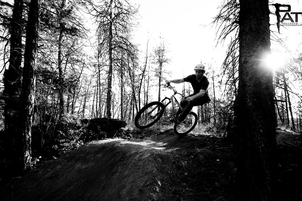 Steve Leslie on the pumptrack. Photo: Pat Taillefer.