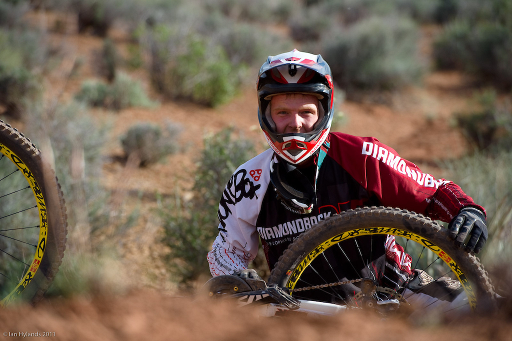 Kyle Thomas, this guy has some serious bike skills, he's primarily a DH racer and he had no problems at all in Utah.