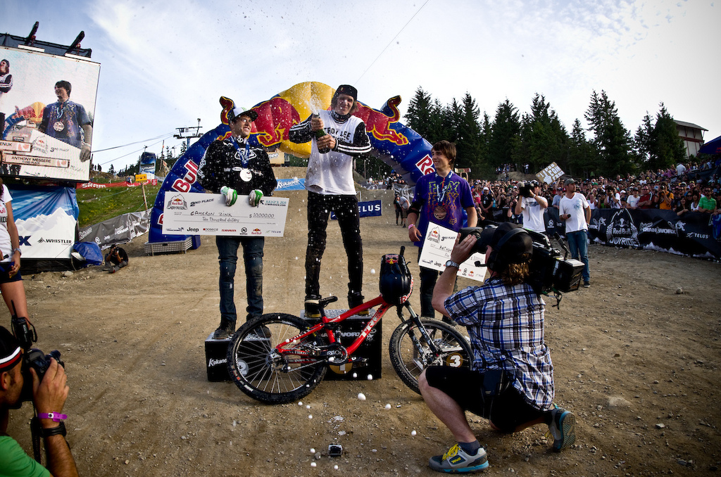 Four long years This was the one that Brandon wanted year after year Contest after contest. He stood on the top of everything except the biggest of them all in his hometown of Whistler Kokanee Crankworx. Congratulations and well done.