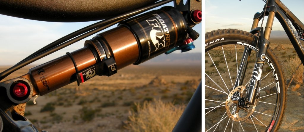 Fox Kashima RP23 shock and 32 Float RLC fork