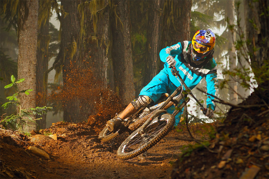 Da Tschugg shredding on his GHOST DH. Photo c by www.larsscharlphoto.com me