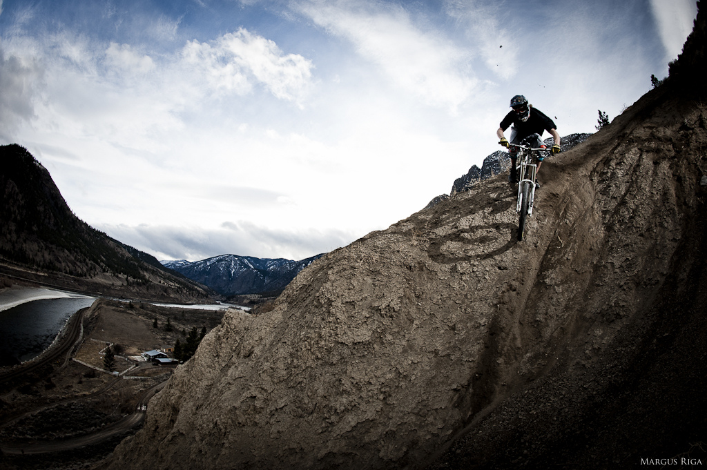 Garett Buehler in Spences Bridge with Margus Riga.