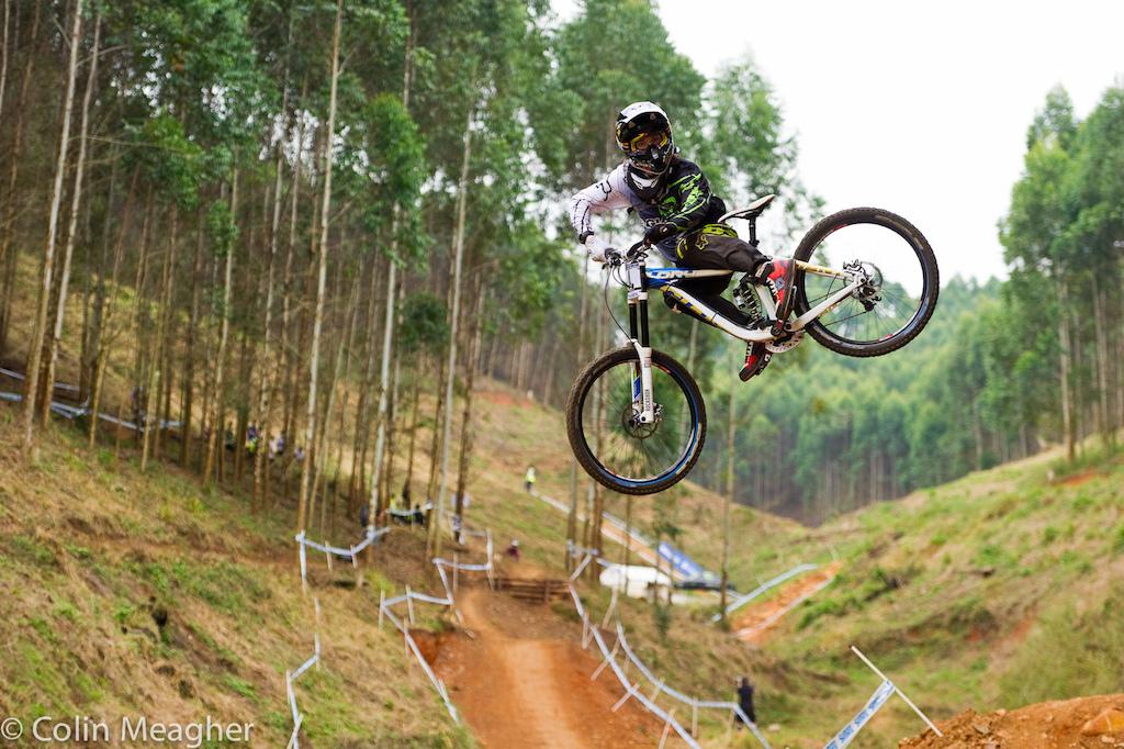 At Cascades MTB Park Downhill Trail in Pietermaritzburg