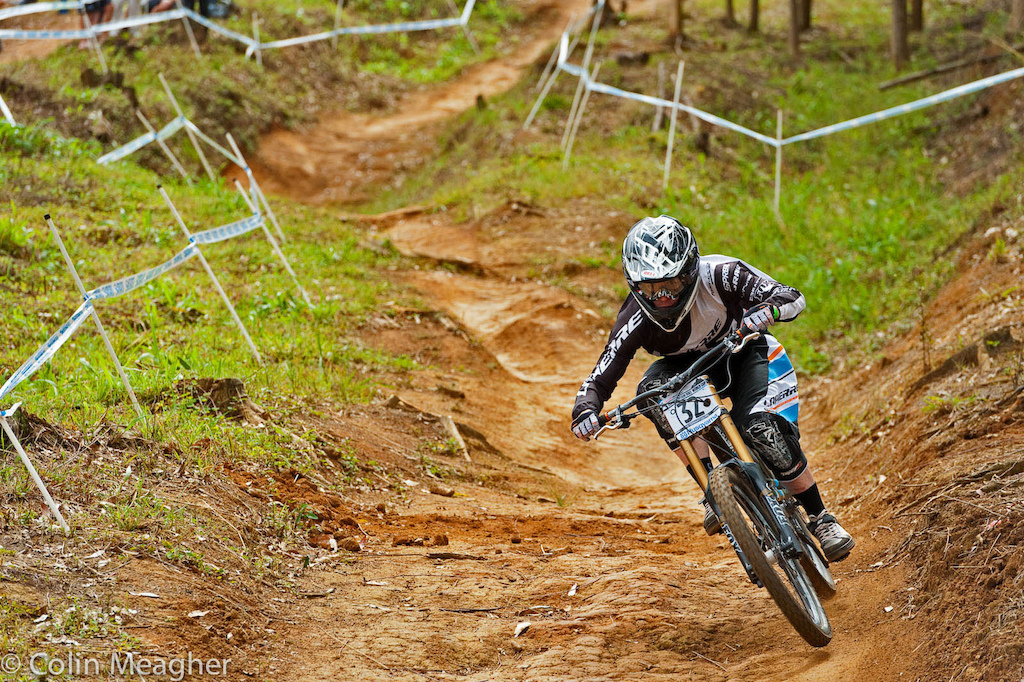 Loic Bruni of Lapierre coming home as the fastest junior at the Pietermaritzburg UCI World Cup DH. And placing 27th overall.