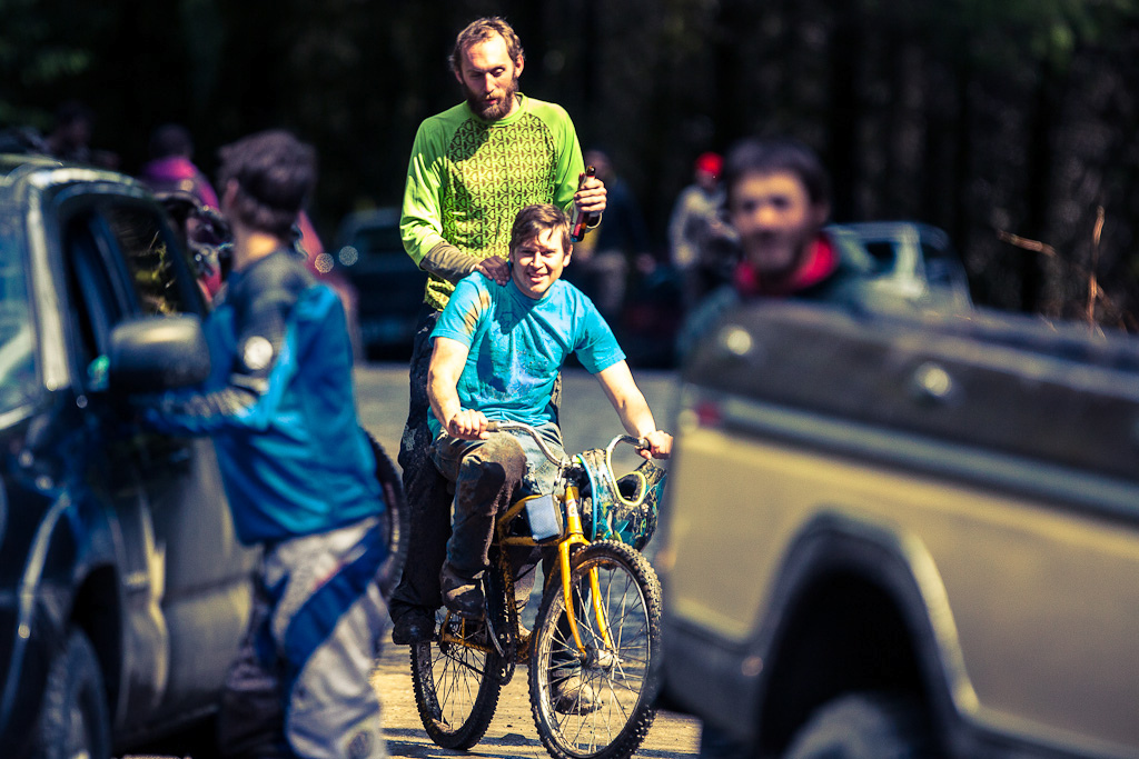 A bicycle is sometimes all it takes for grown men to become boys again.