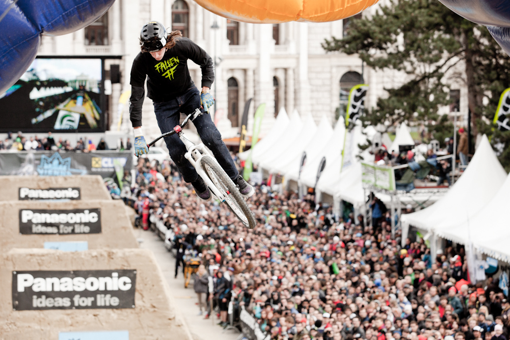 jakub venkl drop 360 at the 2012 Vienna Air King FMB event.