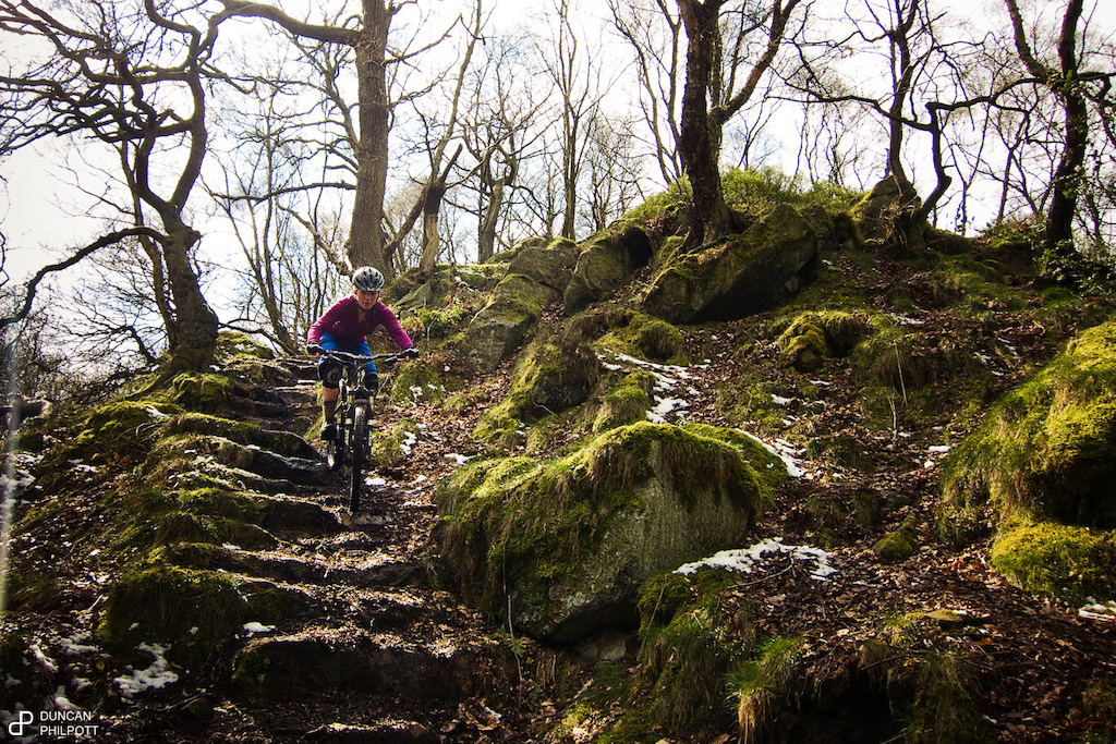 Strange day some of the singletrack was dry and dusty some of it covered in snow and the rest a river from snow melt http www.duncanphilpott.com