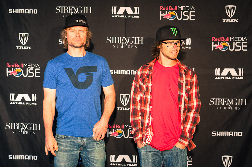 Margus Riga and Fraser Britton at the Strength in Numbers movie premier in Monterey.