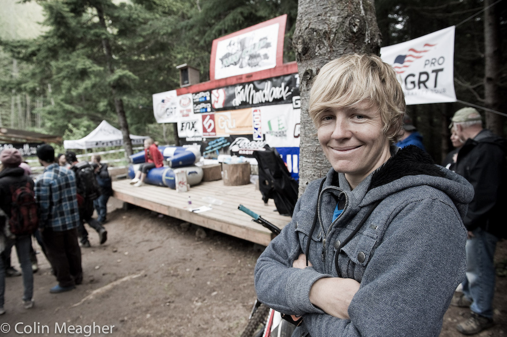 The dirt here was simply amazing and the track was good fun. -South African Jo Petersen and sometime World Cup DH racer.