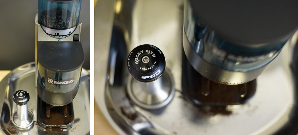 The tamper for the espresso machine was hand machined in house.