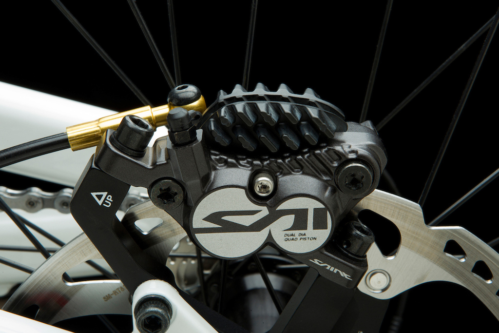 Shimano Saint quad-piston caliper