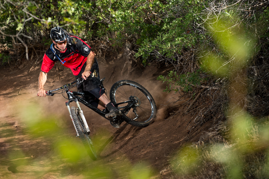 Eric Porter sliding around on his Diamondback Sortie 29 r on his home trails