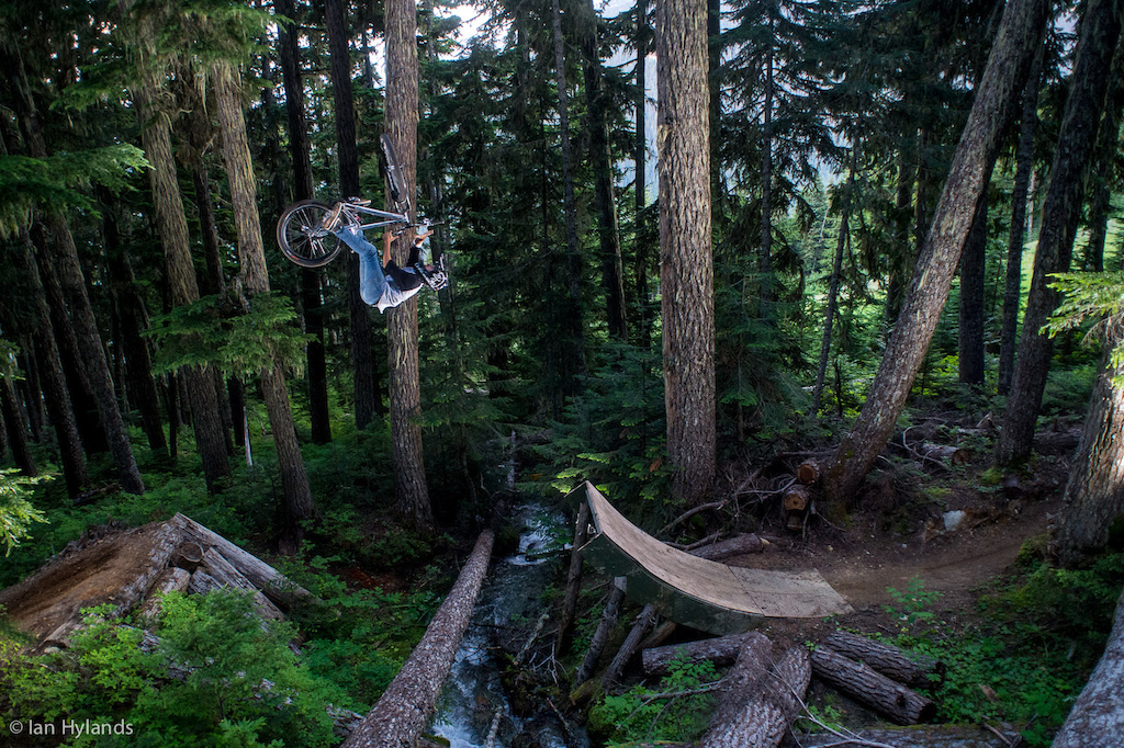 Flip Barspin over the creek gap