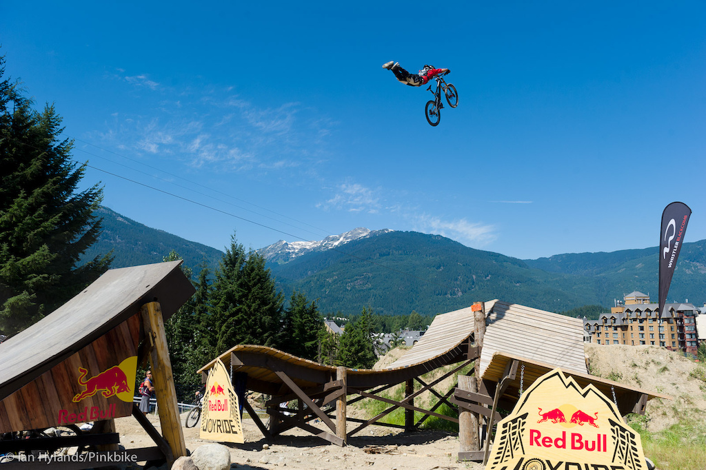 Goldman was the first to really trick this jump during the Joyride Slopestyle Qualifiers, and even after the main event this is still my favorite shot on this jump. Huge!