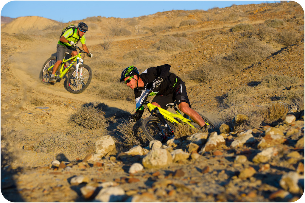 Brain Lopes leads Richie Schley down a trail at Punta San Carlos.