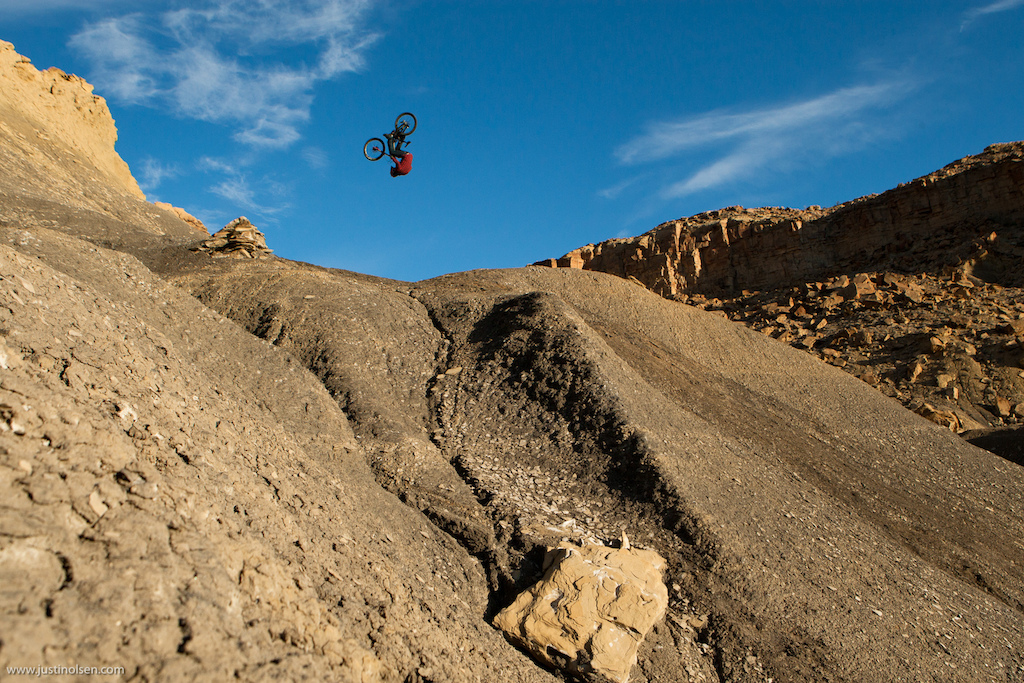 Cam Zink saved this front flip shot for last. This had been weighing heavily on both he and Sorge s mind throughout the trip. I stood and watched in awe as they both rolled in and mentally prepared for this. They both threw down and attempted it but neither rode away.. Zink was really close he landed the flip but just slightly under rotated it and got bucked. Landed or not the point is this is where the sport is going..
