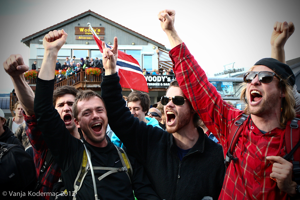 Thanks to the crazy Norwegian fans for such a great atmosfere during the awards ceremony.