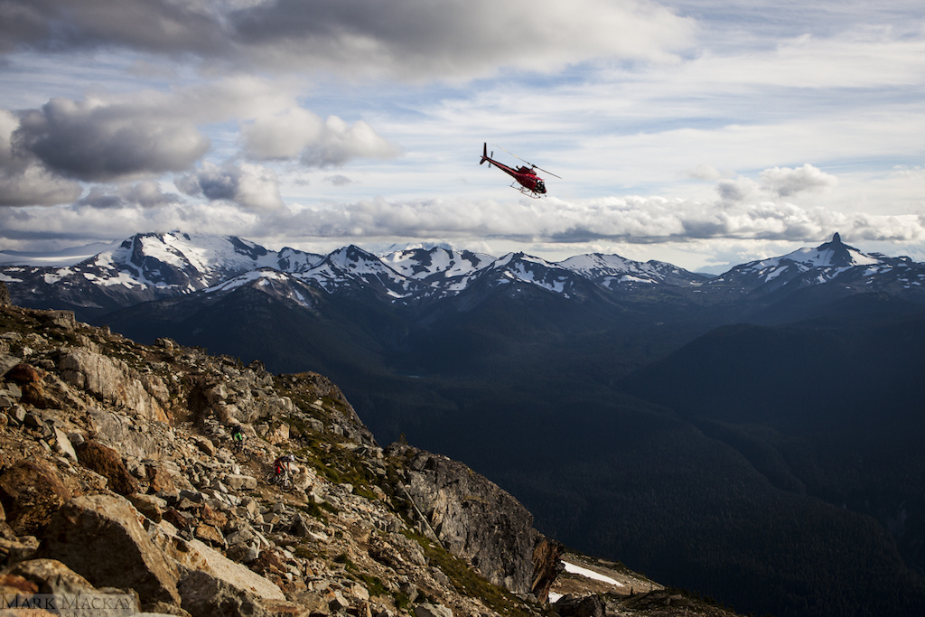The only thing better than riding Top of the World is riding Top of the World with a heli chasing you.