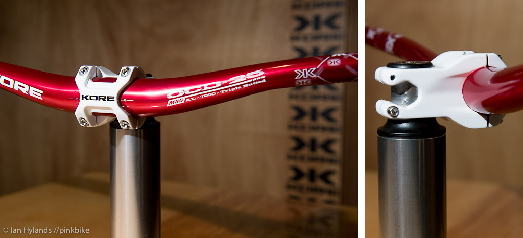 We showed you the rapid prototype of Kore s 35mm stem last Interbike here is the finished product.