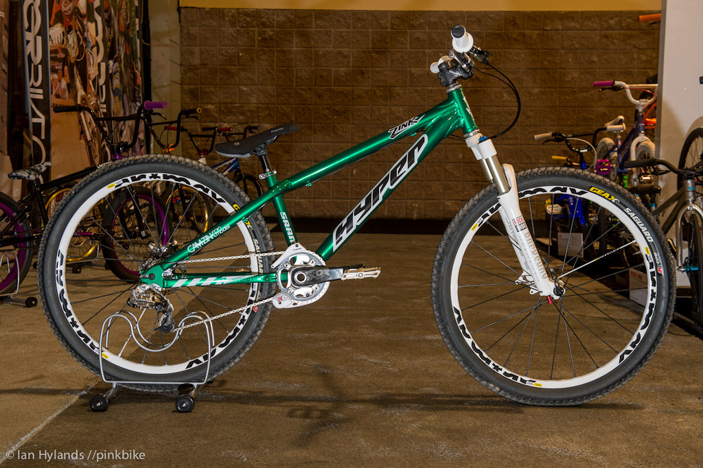 Hyper had a prototype Cam Zink hardtail on display.
