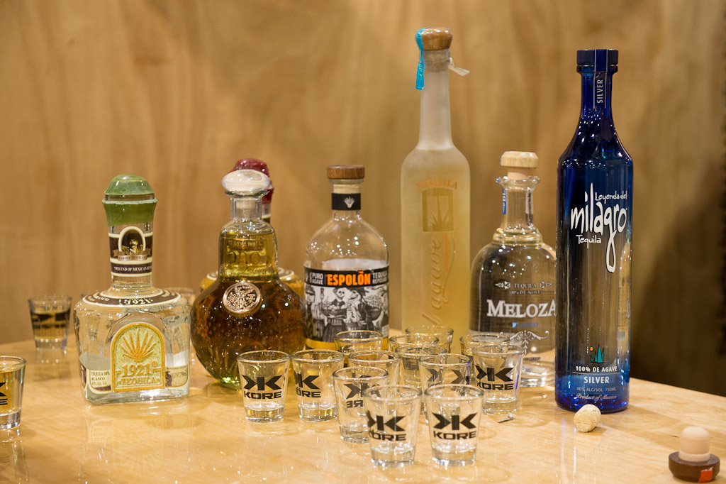 a few of the Tequila s sampled at the annual Interbike Tequila event...