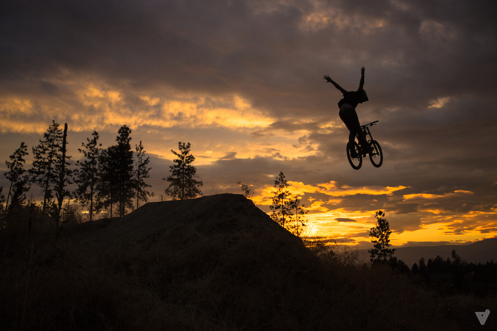 Huge stretched out no hander over the step down just as the sun fell behind the mountains.