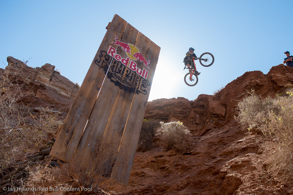 Kyle Strait hasn t been riding a lot here at Rampage but whenever he gets on his bike he kills it. Hoping he has a solid clean run tomorrow it would be sick to see him on the podium again.