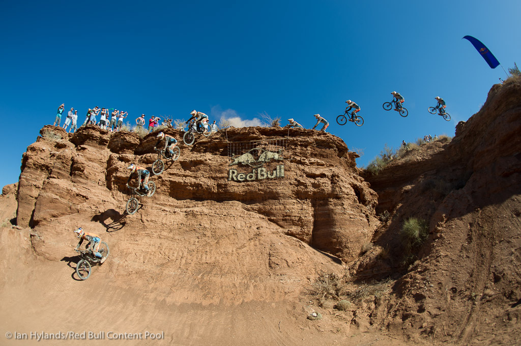 Brandon Semenuk rides to the overall FMBA win at Red Bull Rampage in Virgin Utah on 7 October 2012
