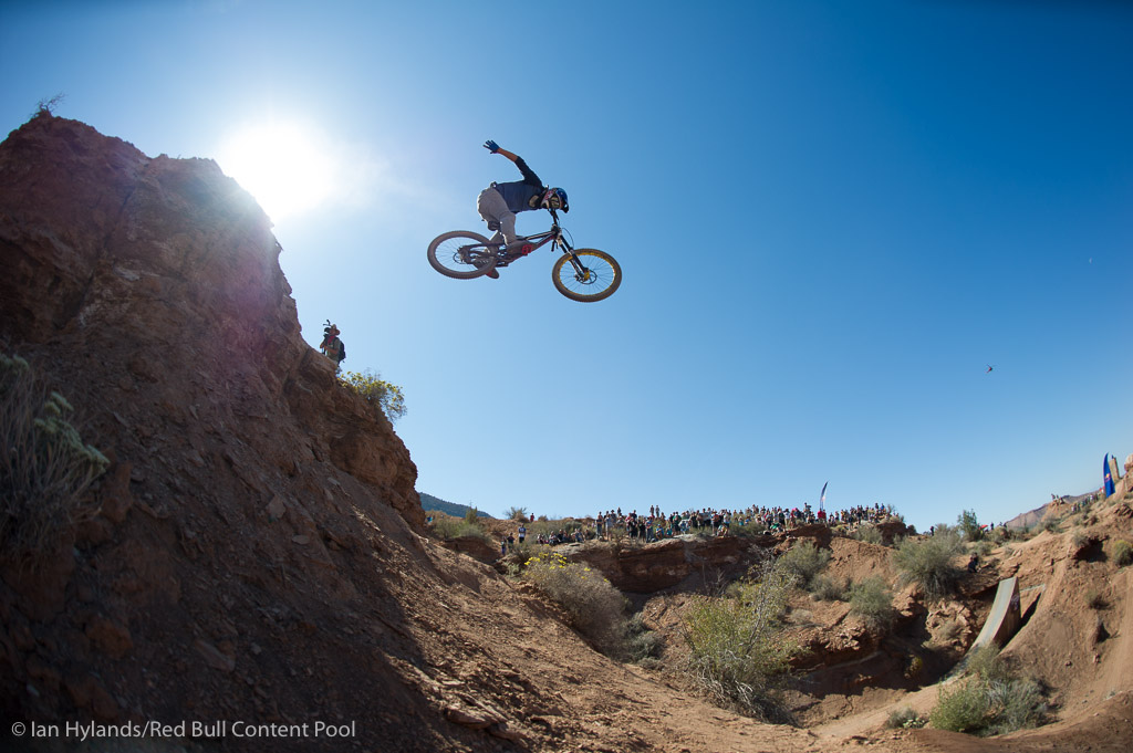 Martin Soderstrom rides to second place overall in the FMBA series at Red Bull Rampage in Virgin Utah on 7 October 2012